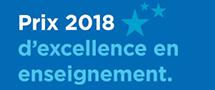 Prix 2018 d'excellence en enseignement