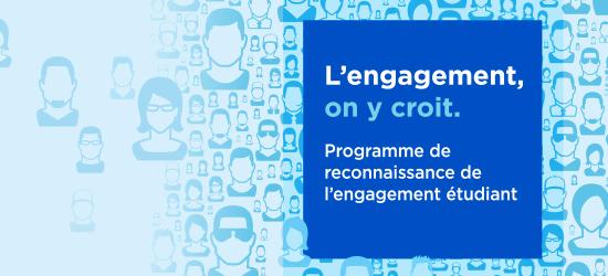 Bandeau - Programme de reconnaissance de l'engagement étudiant